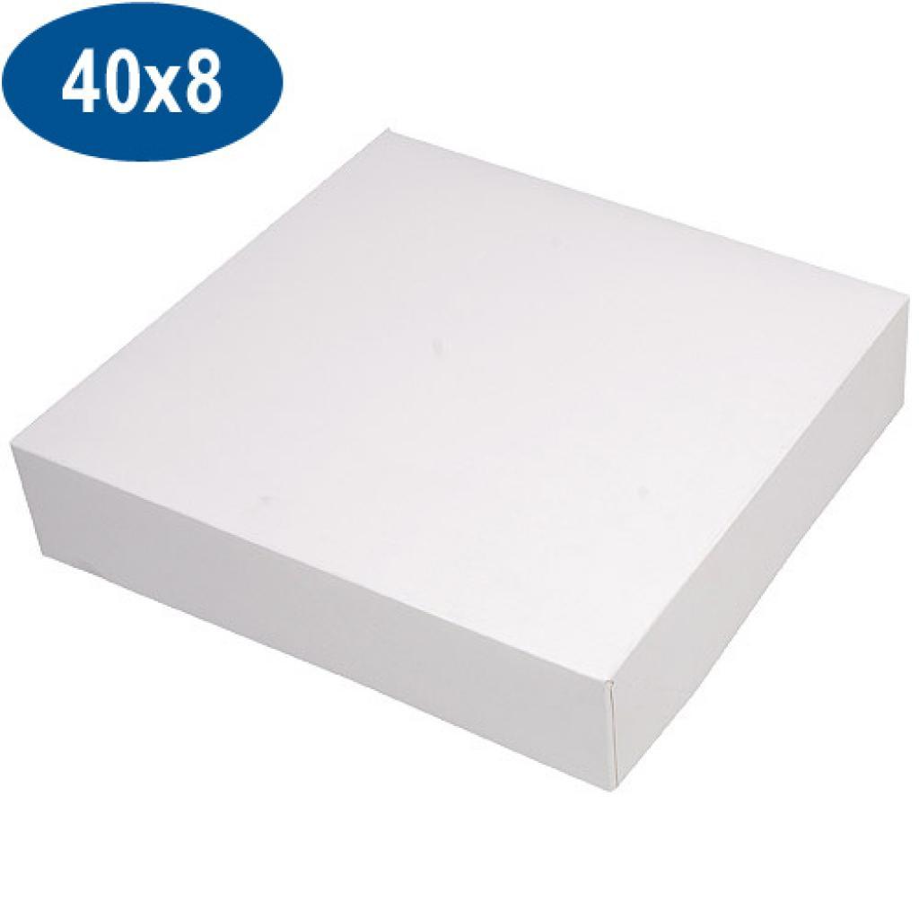 Boite pâtissière en carton blanche 40x8 cm