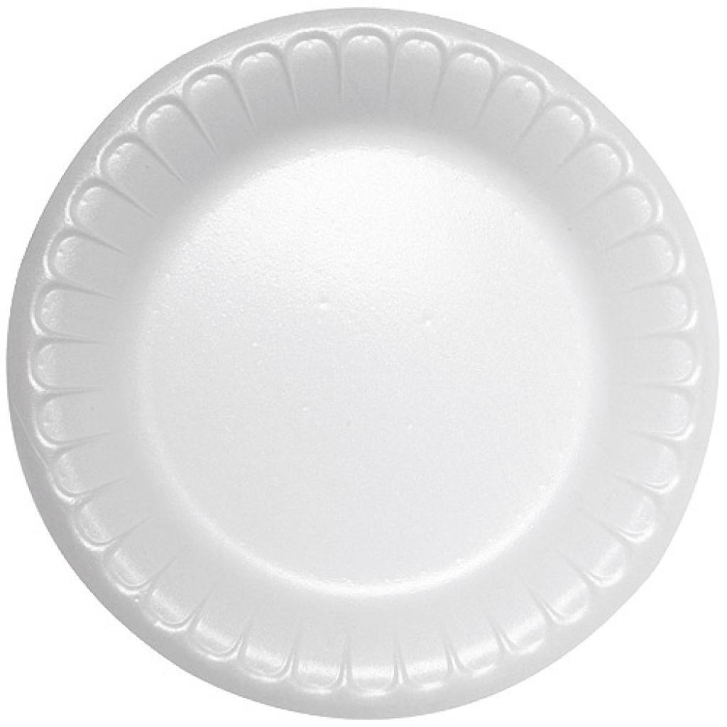 White, PSE plastic plates Ø 17 cm