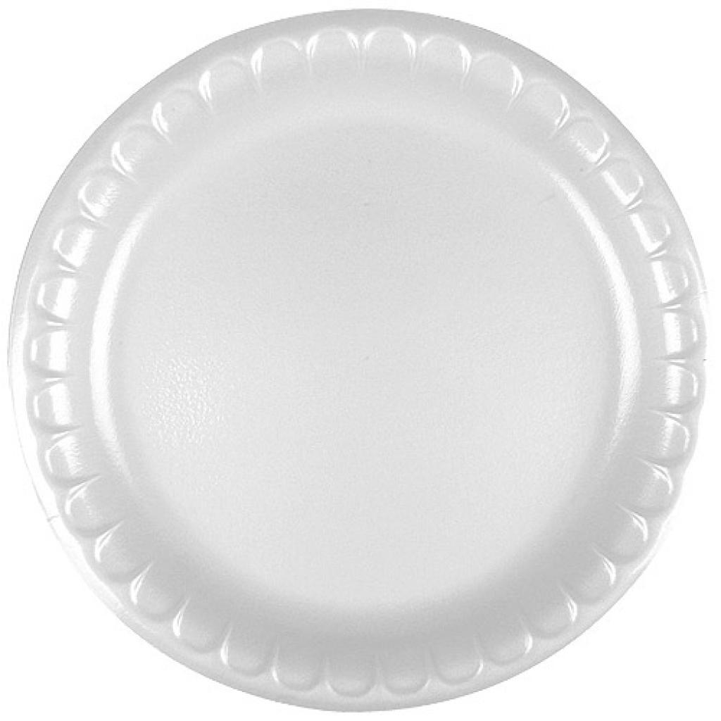 Assiette plastique PSE blanche Ø 26 cm
