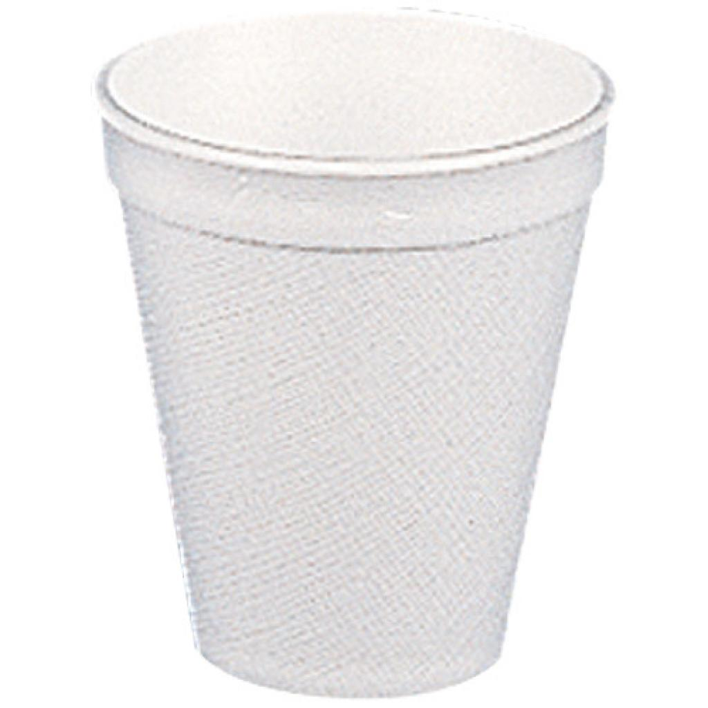 White PSE plastic cup 20 cl