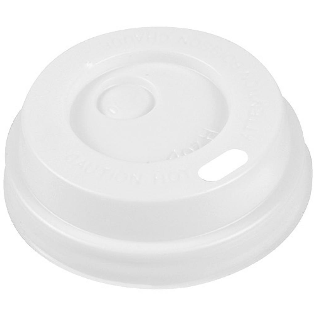 White domed PS lid for 10cl cup