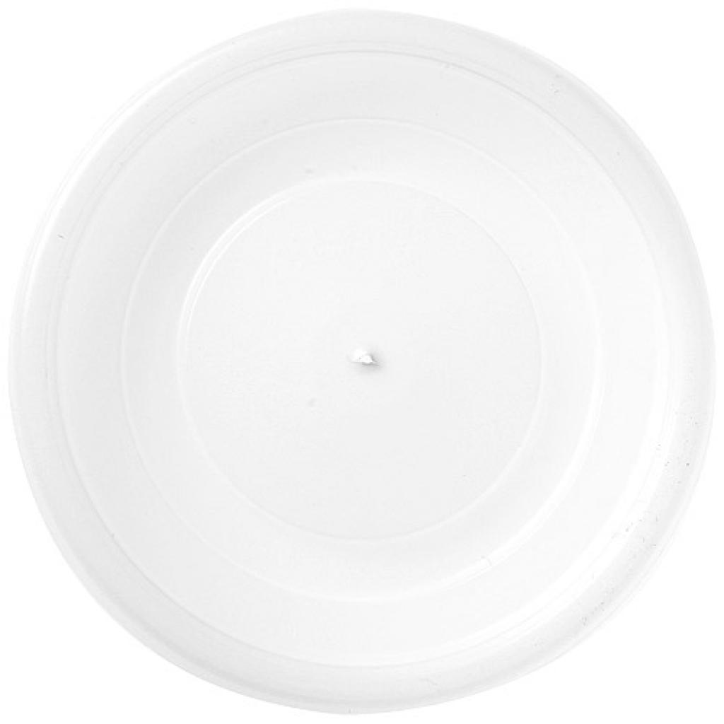 White flat PS lid for 10cl cup
