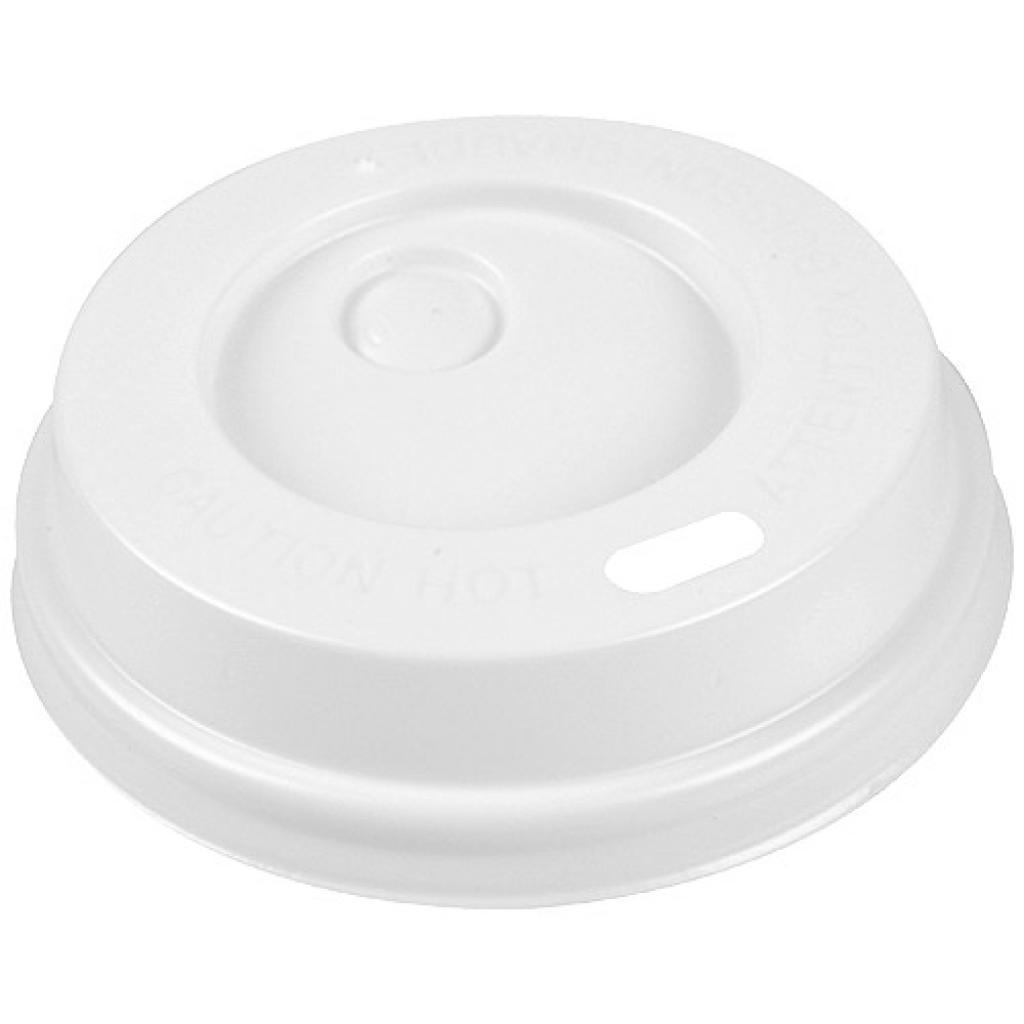 Couvercle dôme PS blanc pour gobelet 15/20 cl