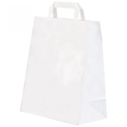 White kraft paper tote bag 70g/m² 20x10x30 cm