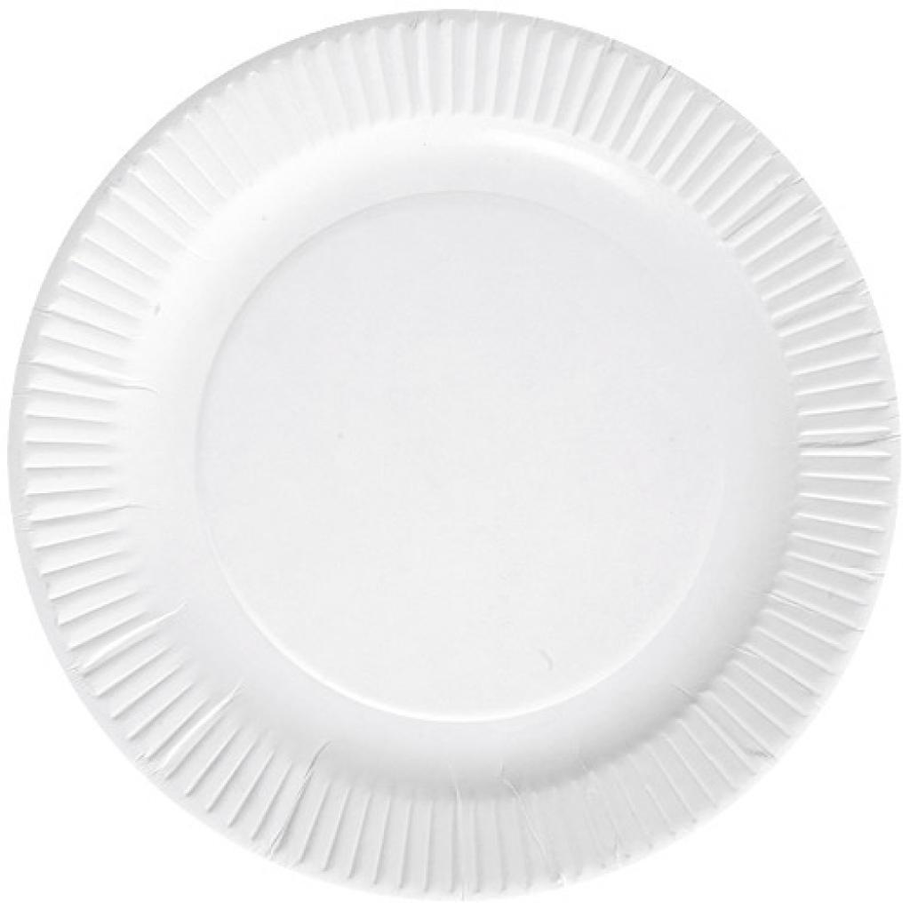 Assiette en carton blanche Ø 15 cm