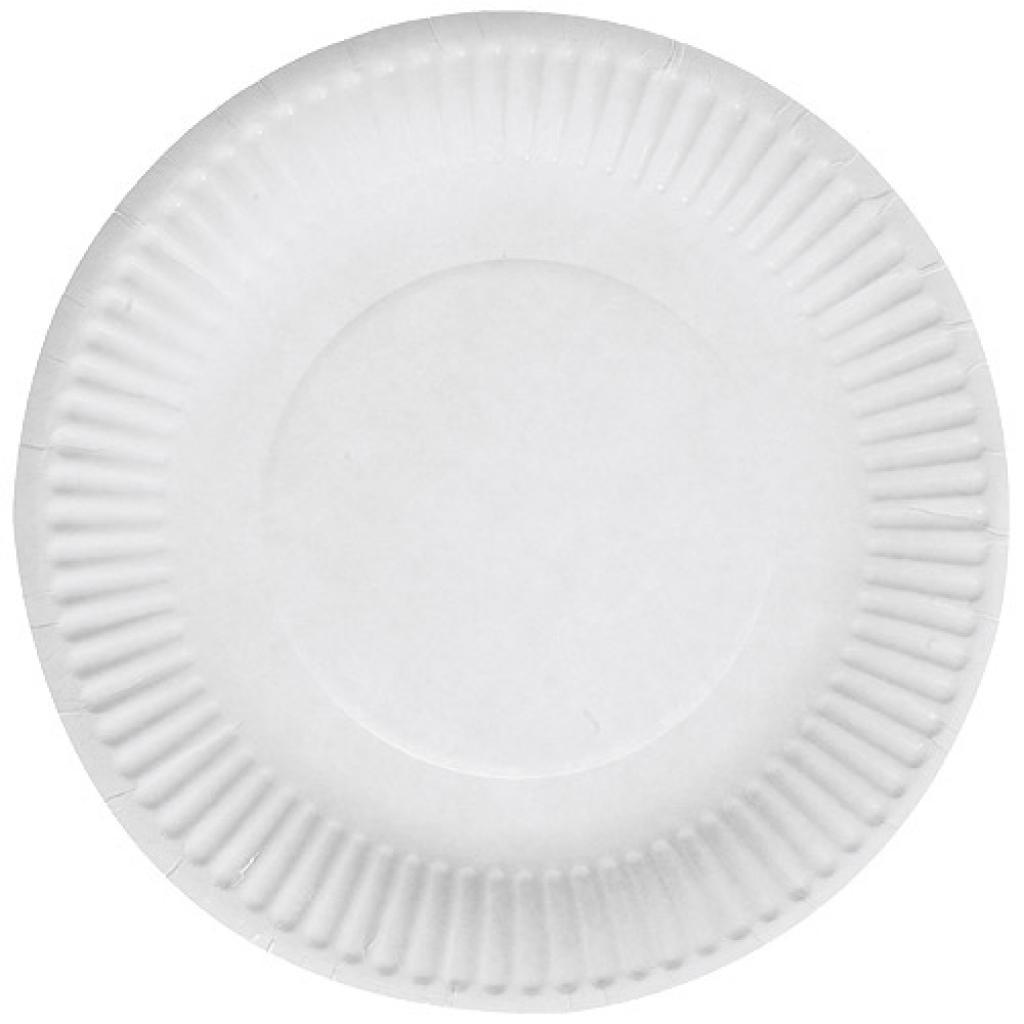 Assiette en Carton Blanche Ø18 cm, Emballages Assiettes | Firplast