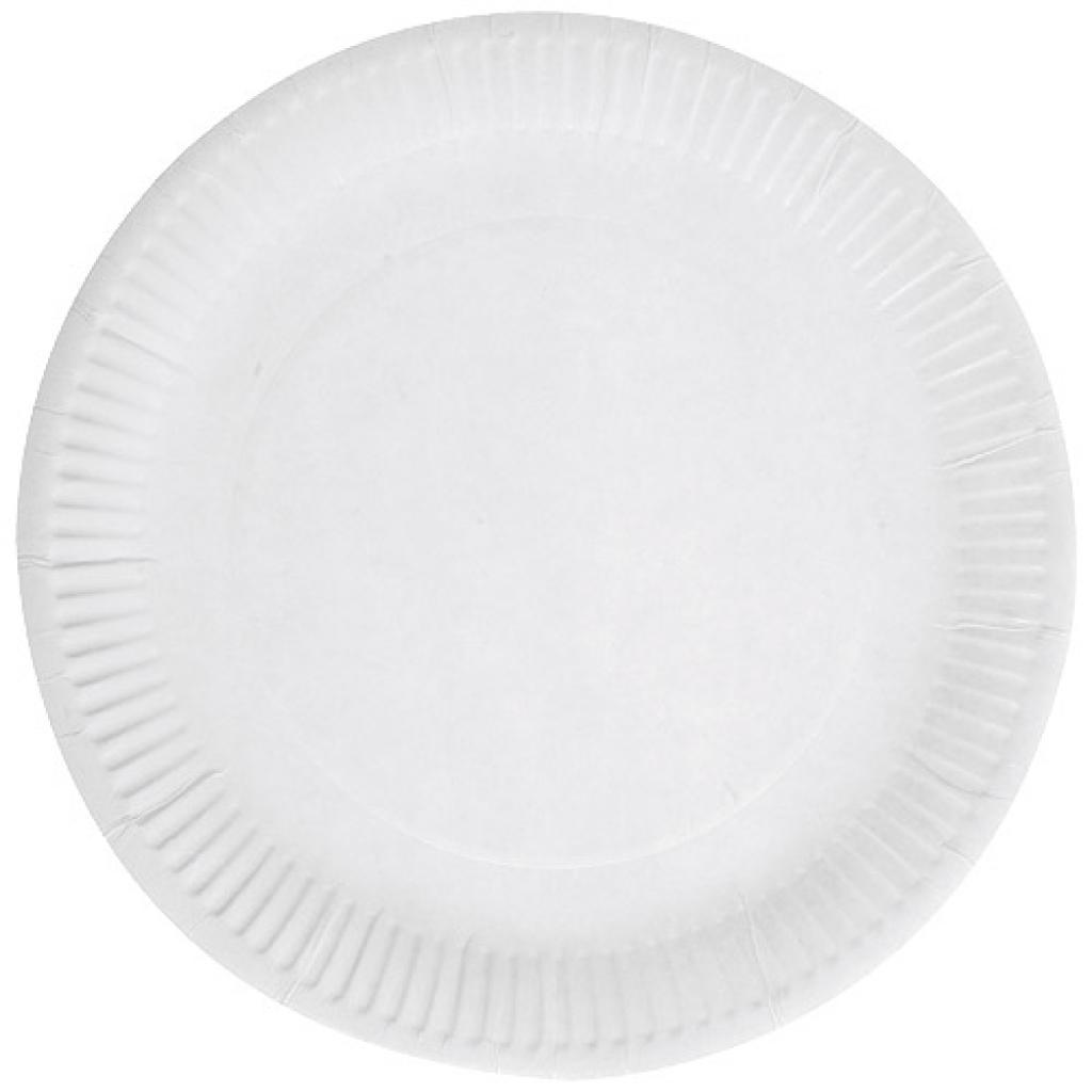 White paper plate Ø 23 cm