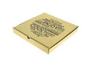 Brown cardboard pizza box 26x26x4 cm
