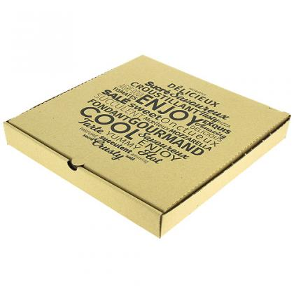 Brown cardboard pizza box 33x33x4 cm