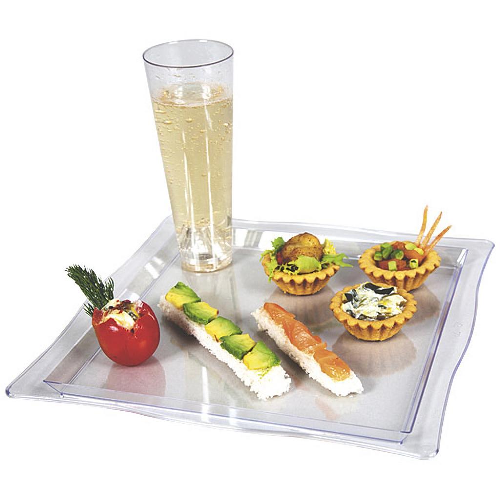 Assiette cocktail plastique tranparente 2