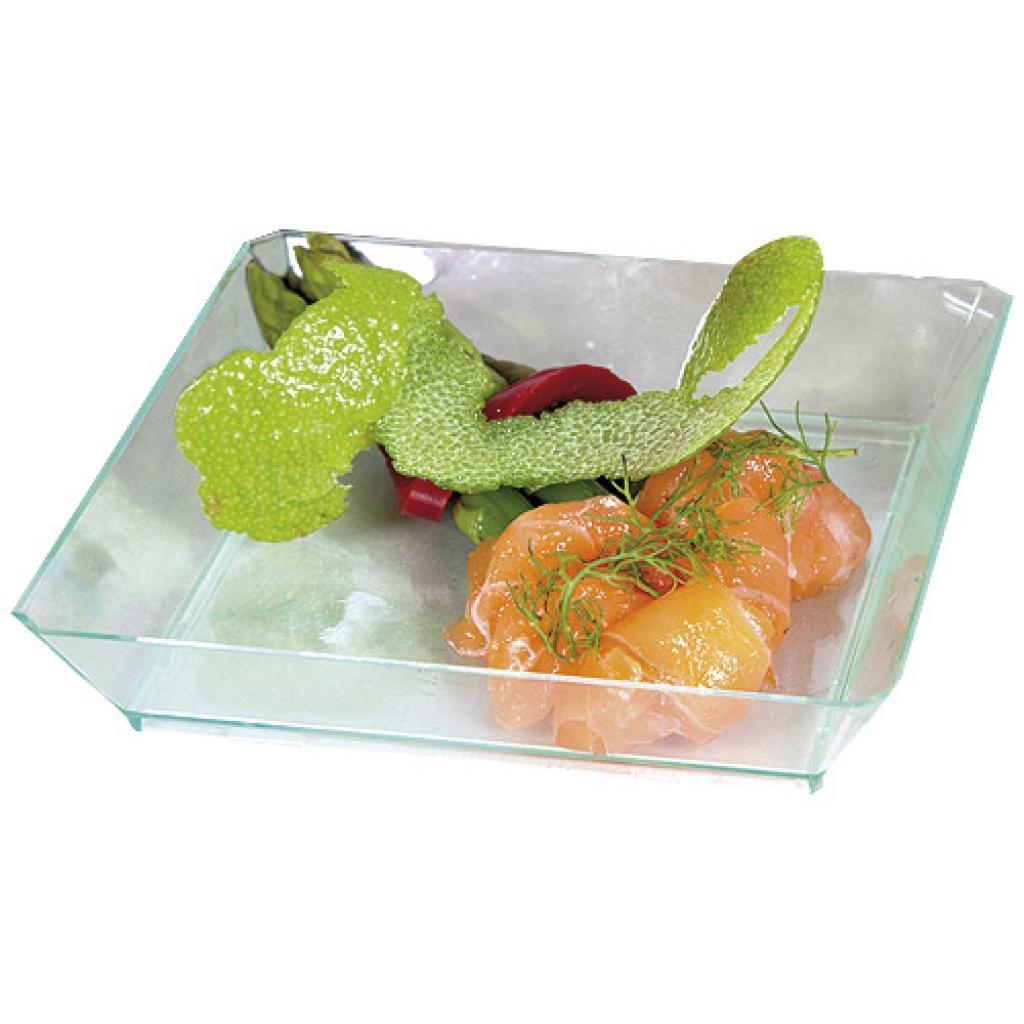 Transparent PS plastic plate 9 cm