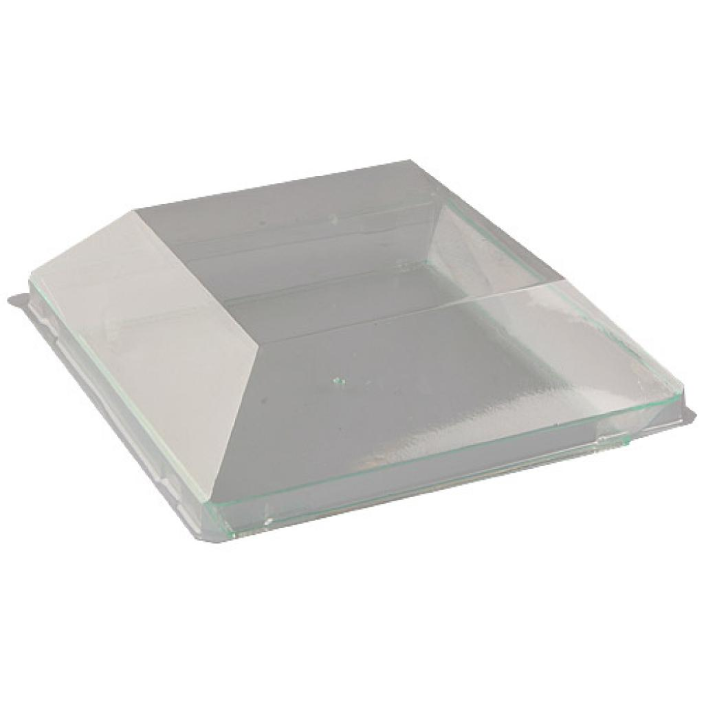 Transparent PS plastic plate 13 cm 2