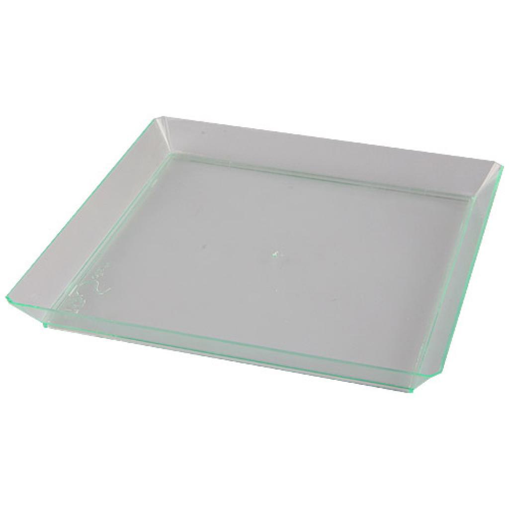 Transparent PS plastic plate 16 cm 2