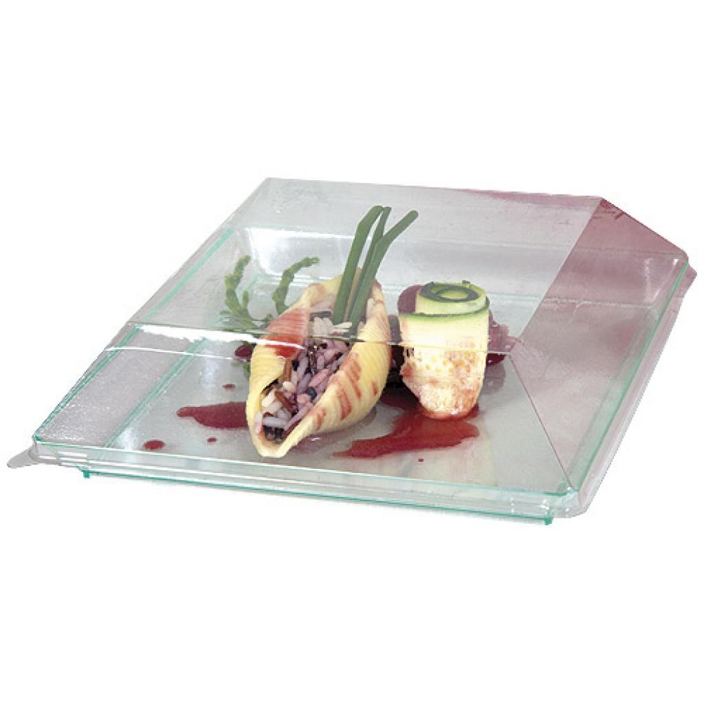 Couvercle pour assiette PS transparent 16 cm