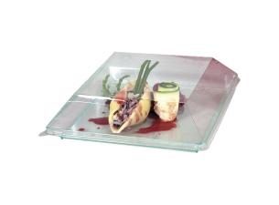 Lid for transparent PS plastic plate 16 cm