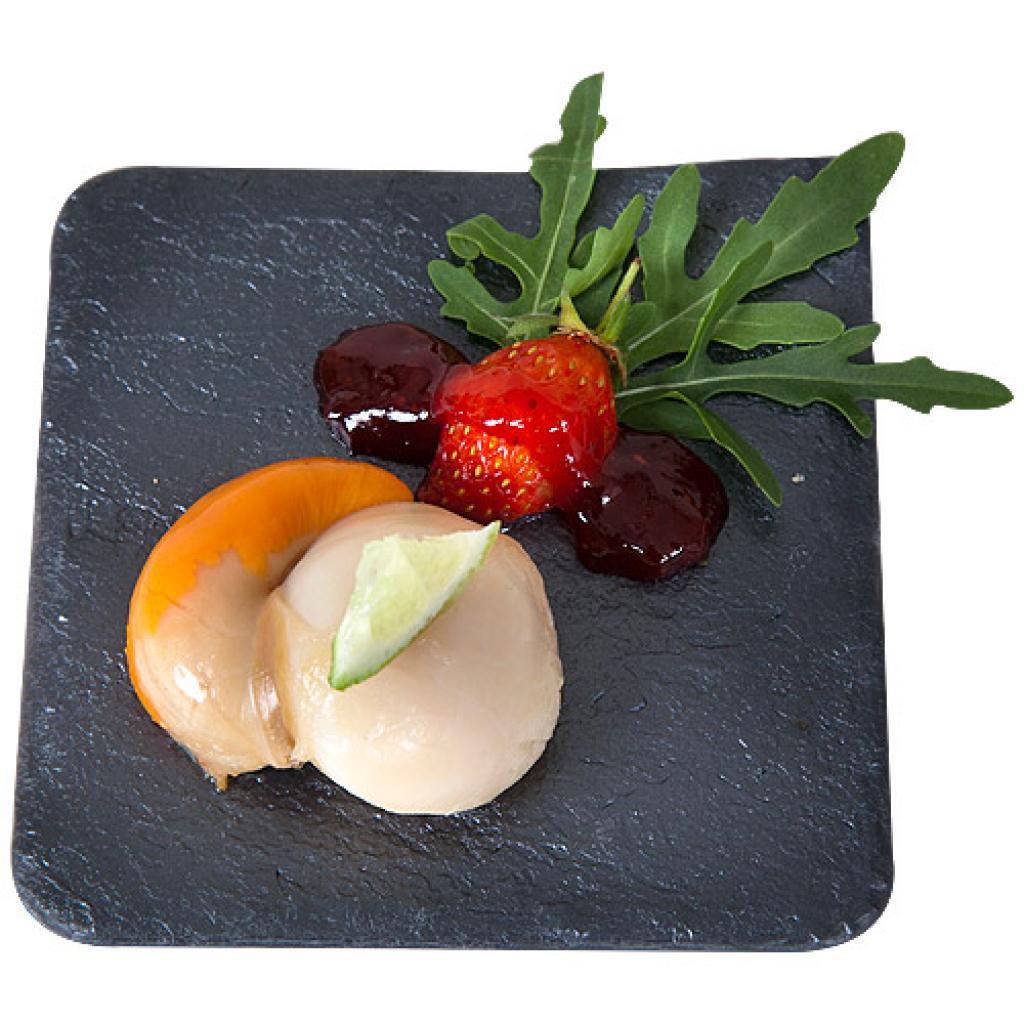 Slate grey cocktail platter 11x11 cm