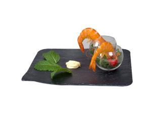 Assiette Cocktail Gris Ardoise 20X20 (X10)
