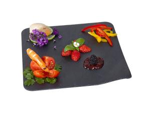 Slate grey cocktail platter 24x24 cm