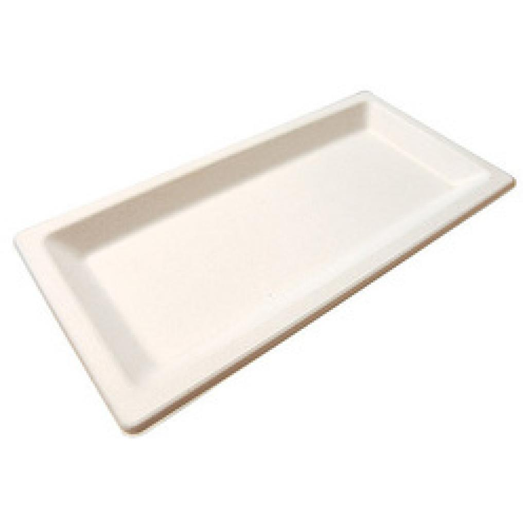 Assiette Pulpy Liny blanche 13x26 cm