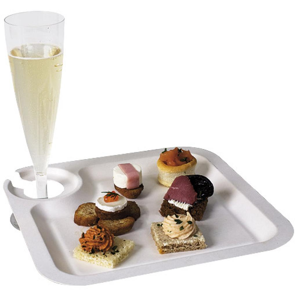 Assiette Cocktail jetable en Pulpe Ø 21 cm | Firplast