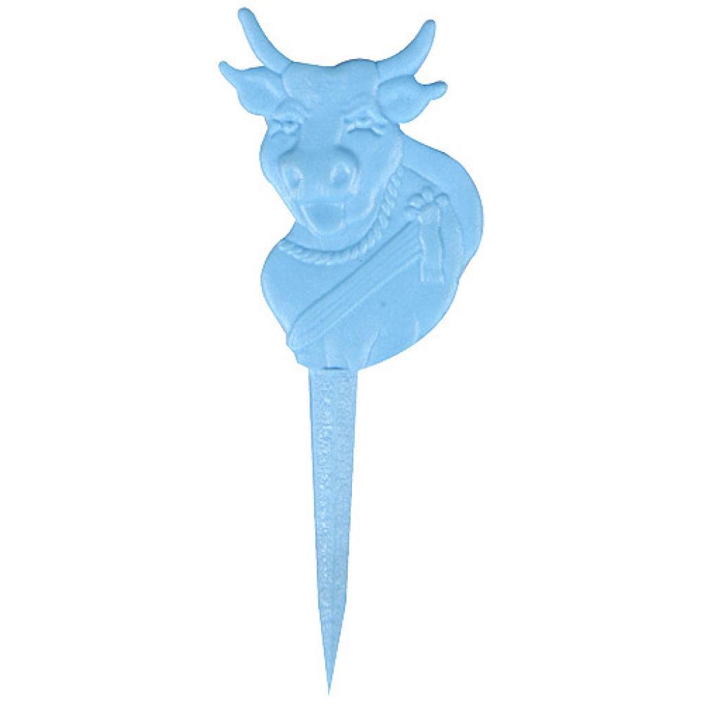Marqueur steak plastique bleu
