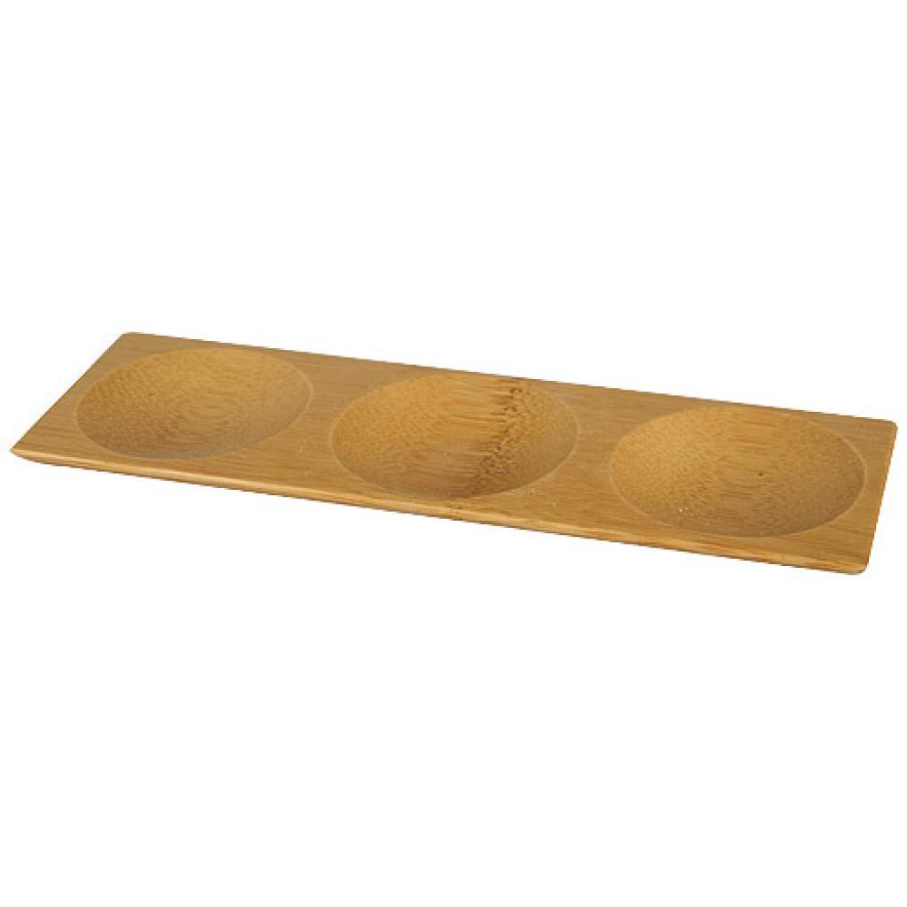18x6cm circular bamboo Trio ramekin