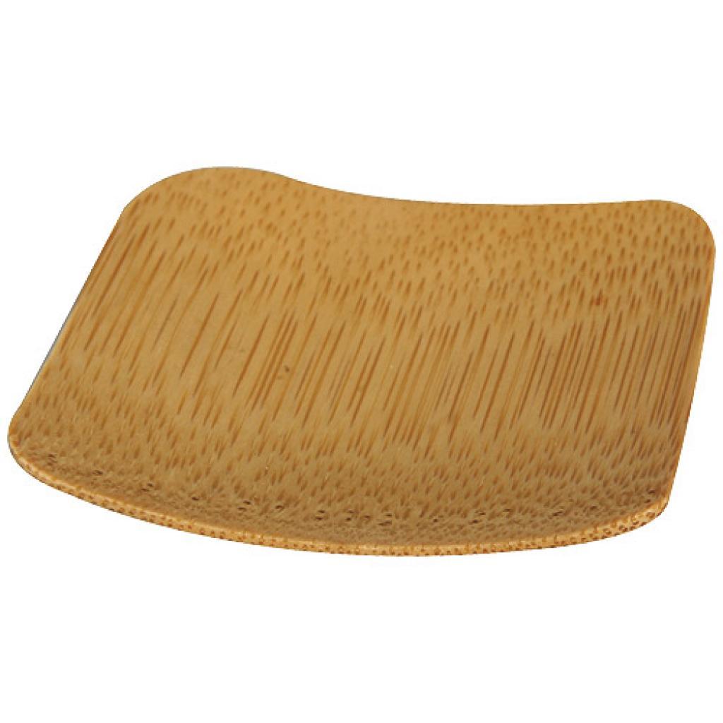 6cm square bamboo mini-plate