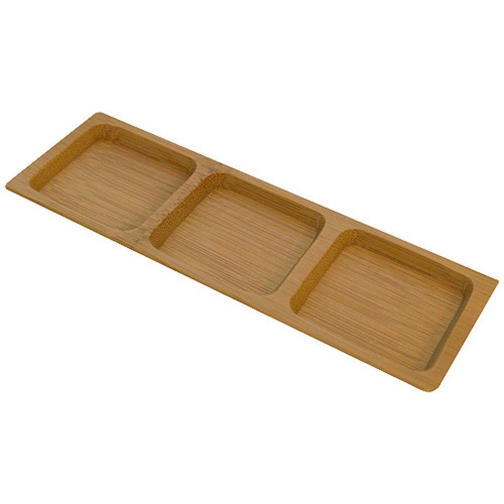 Square bamboo Trio ramekin 18 x 6 cm