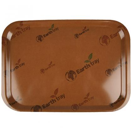 Wooden fast food tray 37,5x26,5 cm