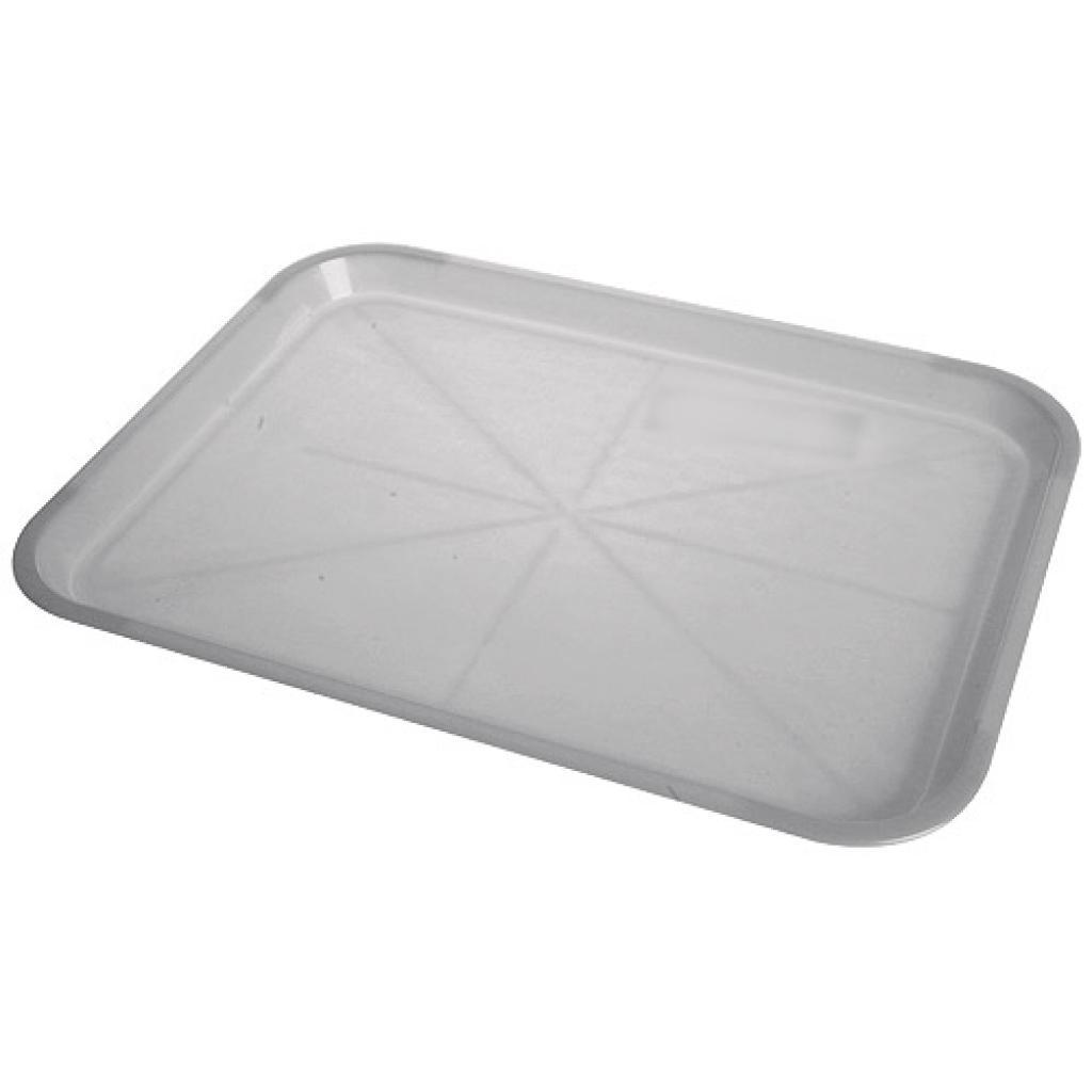 Plateau fast food en PP gris 34,5x26,5 cm