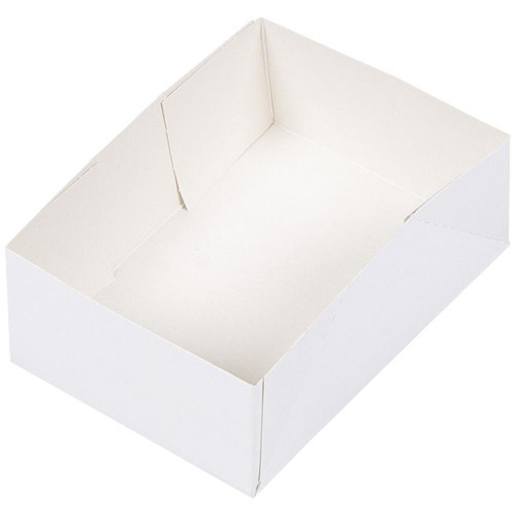 White paperboard pastry case 14x10x5 cm 2