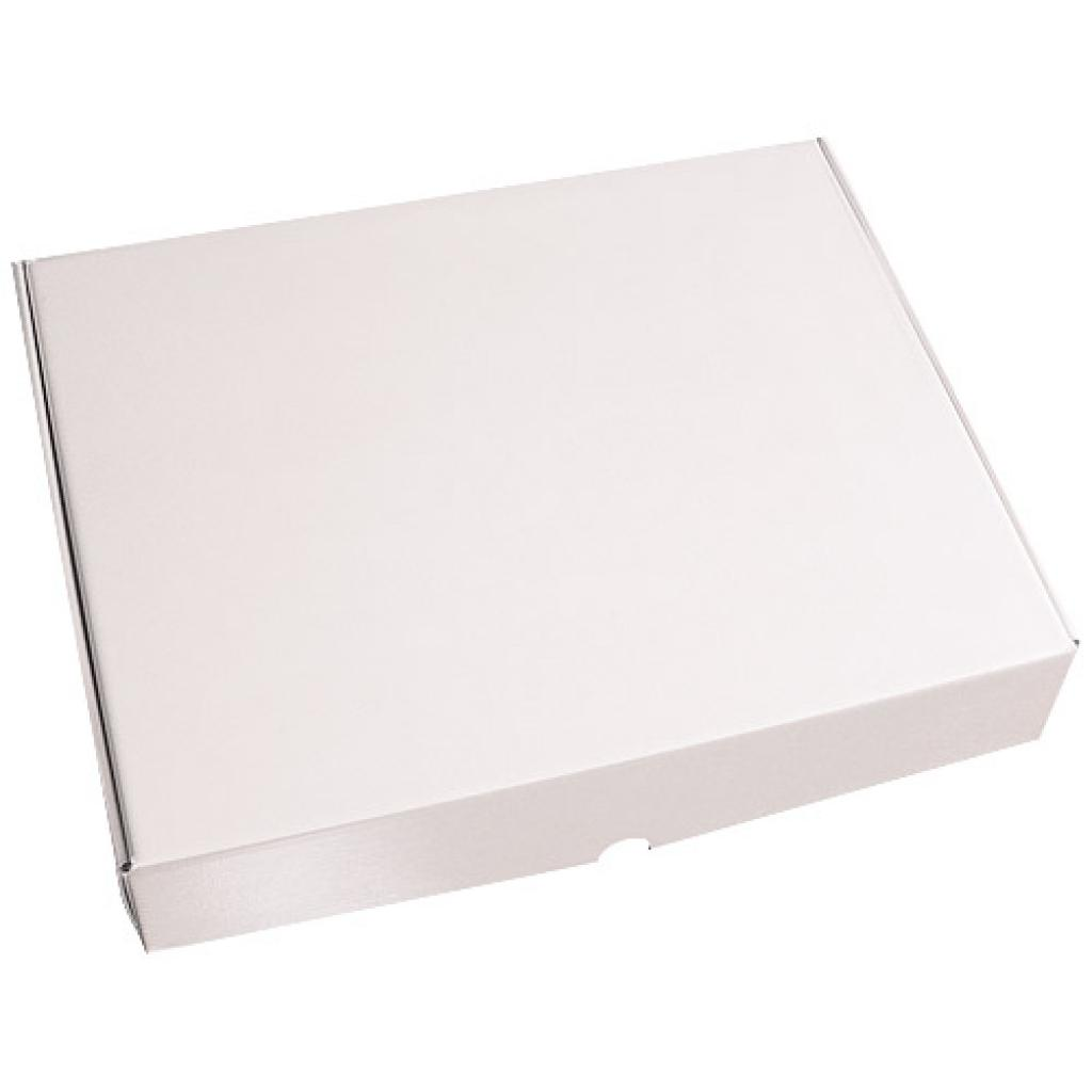White pastry box with matching lid