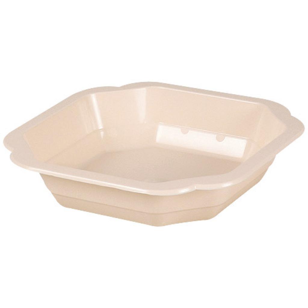 Assiette plastique PP saumon 160x25 mm 2
