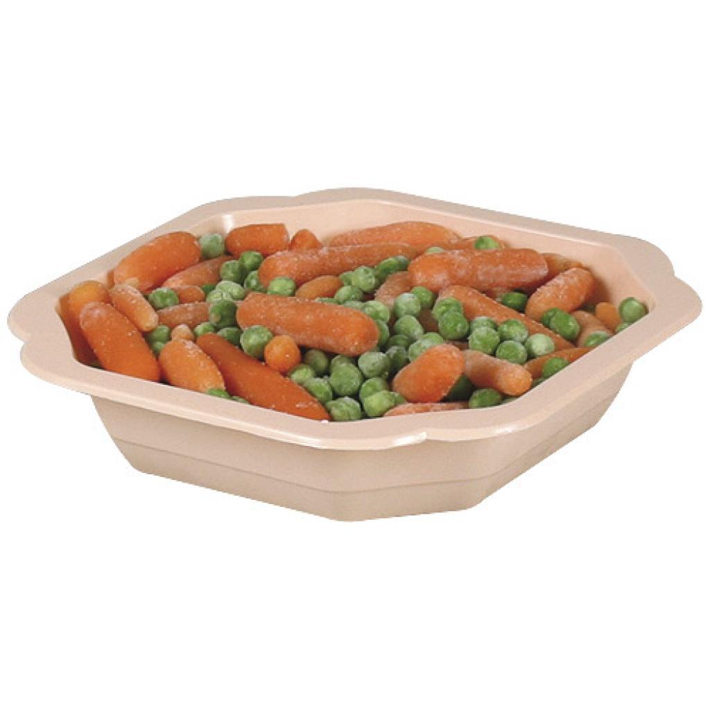 Assiette plastique PP saumon 160x25 mm