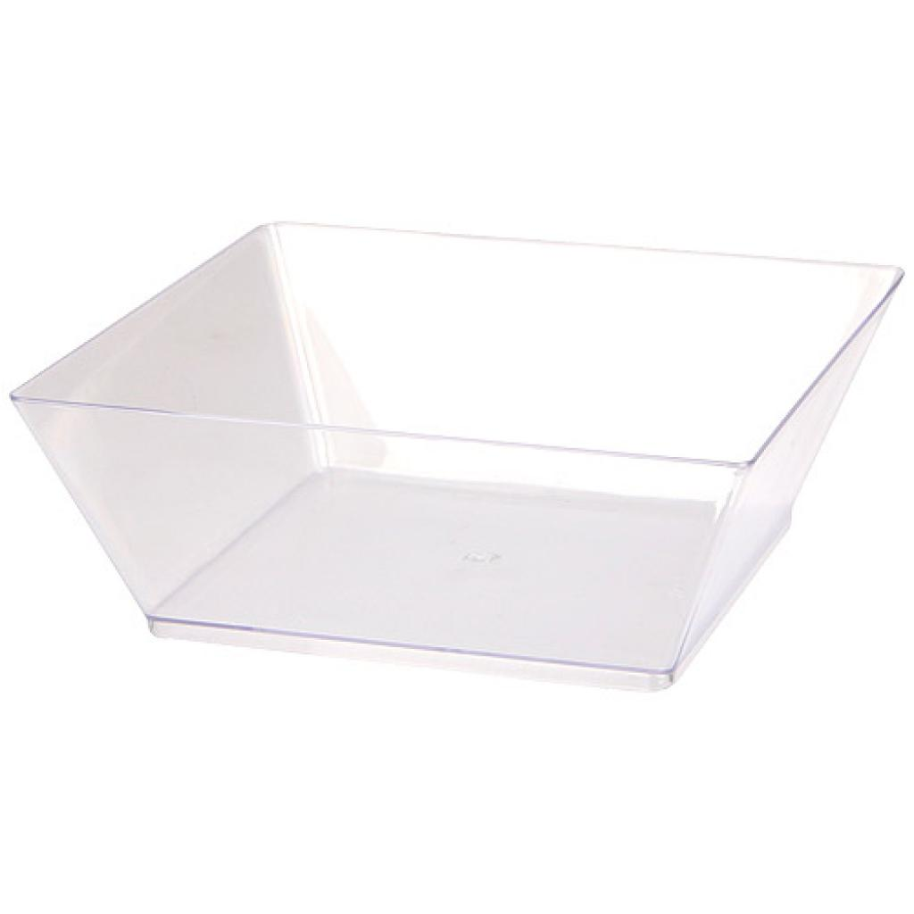 Transparent, moulded PS shallow dish 2