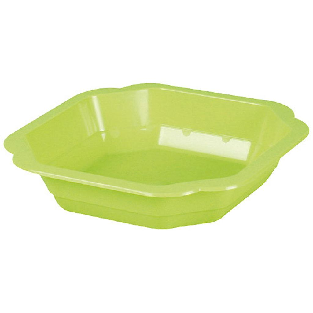 Assiette plastique PP verte 160x35 mm