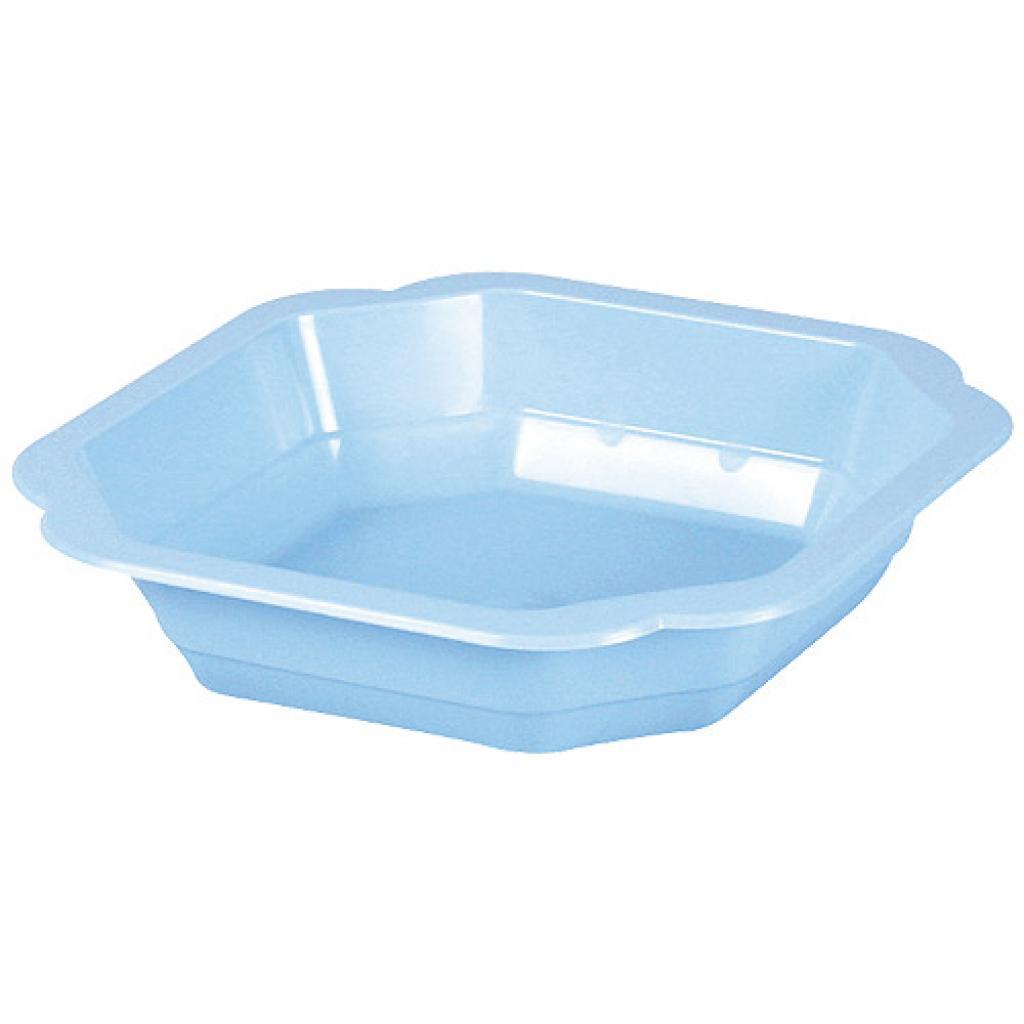 Blue PP plastic plate, depth 45mm