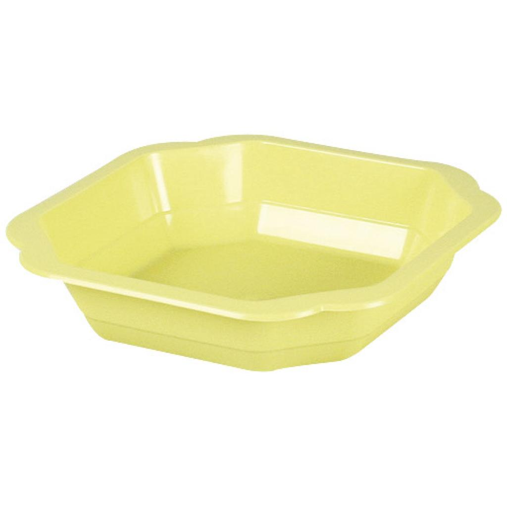 Yellow PP plastic plate 160x35 mm