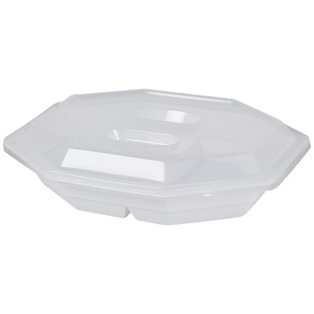 Assiette 2 compartiments en PP 23x19x4 cm 3