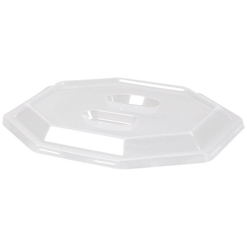 PP lid for 2-compartment plate