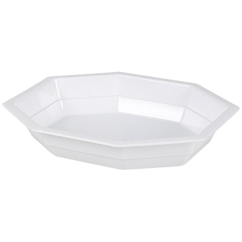 White PP plastic plate, depth 40