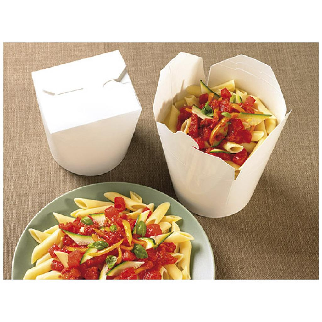 Pot à pâtes en carton blanc Firsmart 460 ml