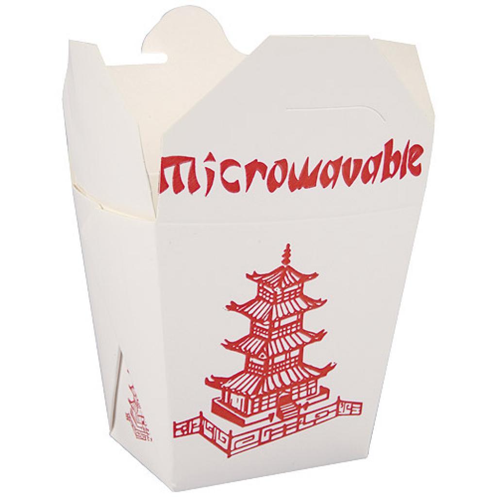 Pot à pâtes en carton décor asie Firsquare 460 ml