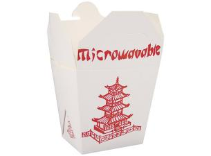 460ml paperboard Firsquare pasta box with asian pattern
