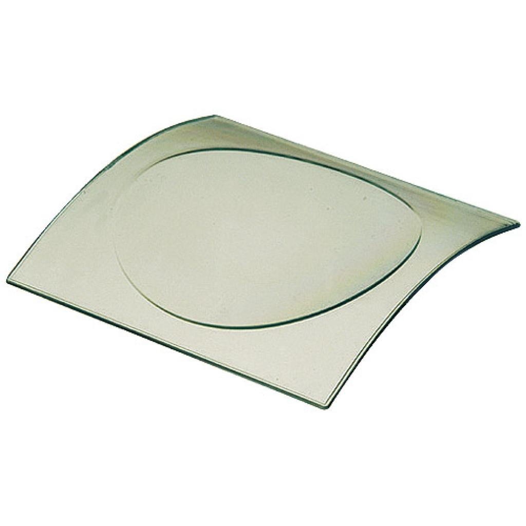Sea green PS mini-plate, 80x79x10 mm