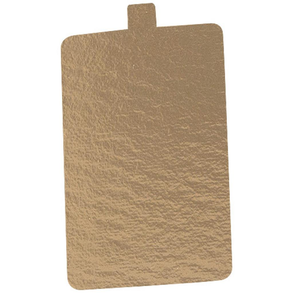 8x8cm gold-coloured cardboard square with tab