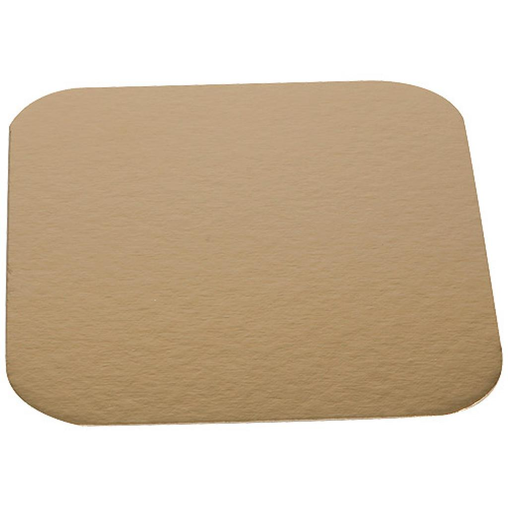 16cm square gold-coloured cardboard tray