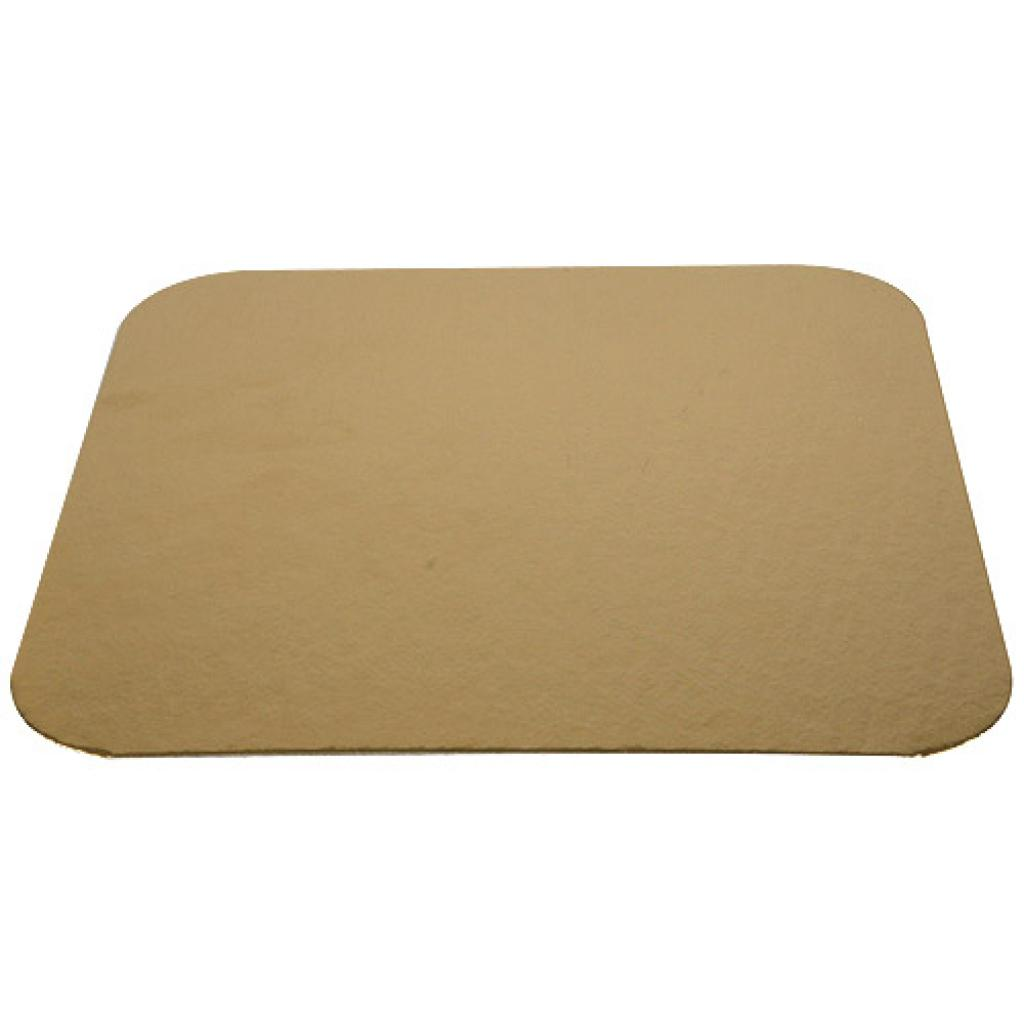 18cm square gold-coloured cardboard tray