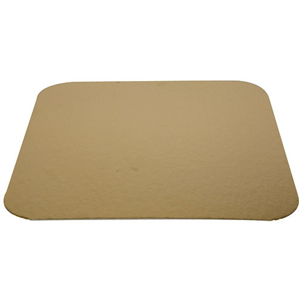 20cm square gold-coloured cardboard tray