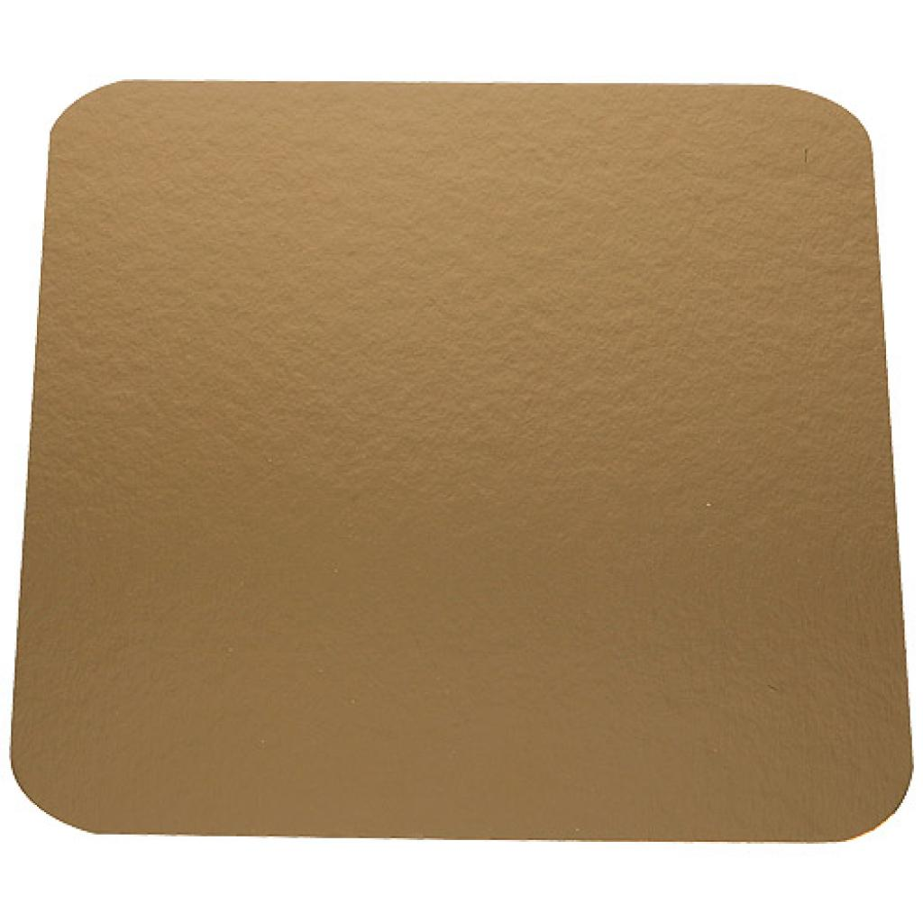 24cm square gold-coloured cardboard tray